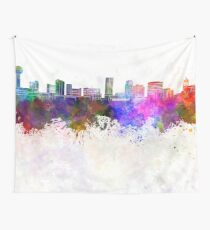 Knoxville skyline in watercolor background Wall Tapestry