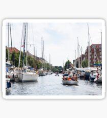 Canal in Copenhagen Sticker