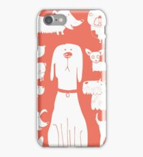dogs - coral iPhone Case/Skin