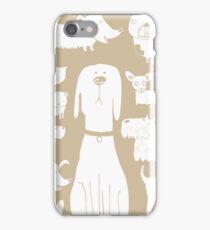 dogs - latte iPhone Case/Skin