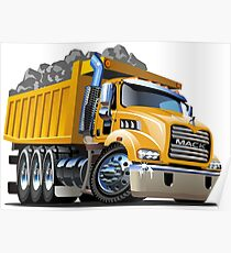 Cartoon Dump Truck Poster