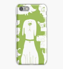 dogs - green iPhone Case/Skin
