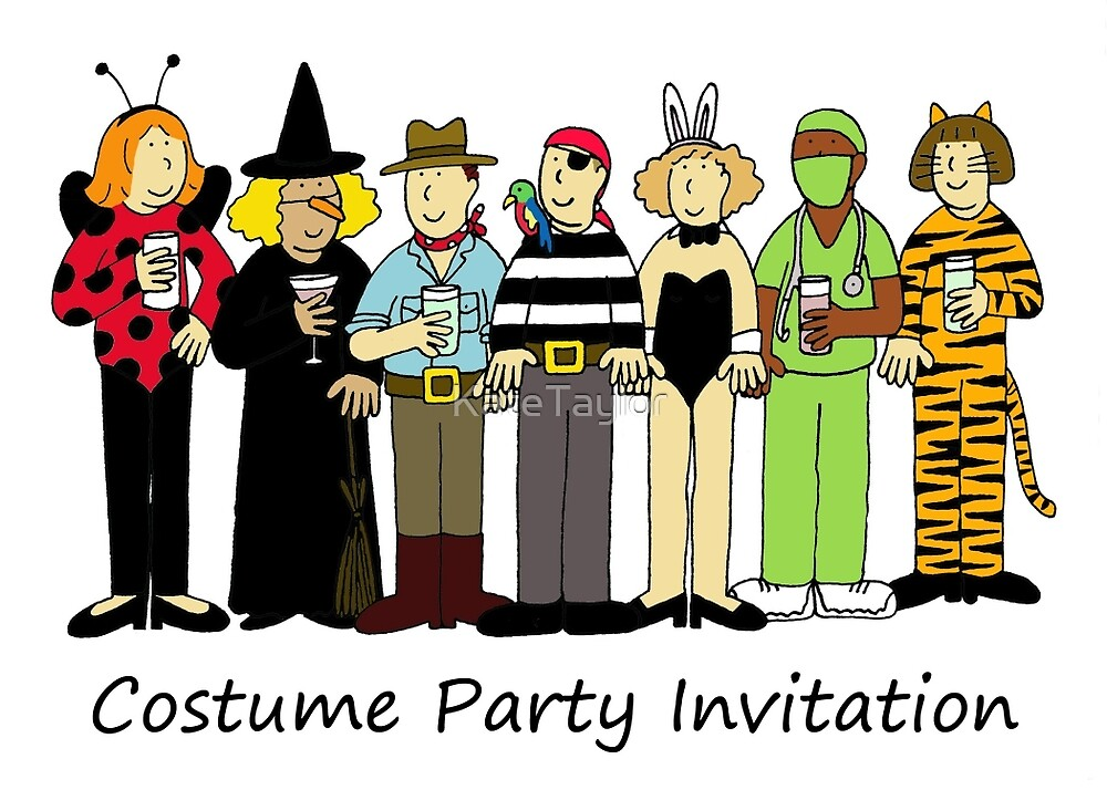 Costume/Fancy dress party invitation.\