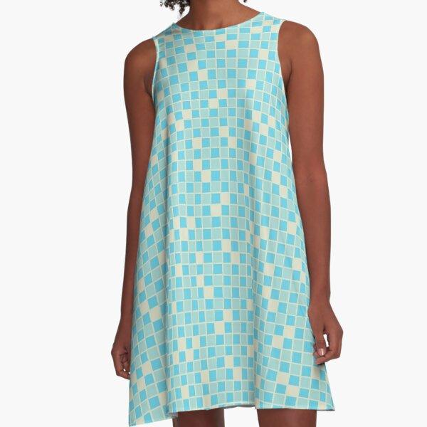 Grandma's Bathroom Tile Floor Design A-Line Dress