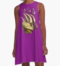 Golden Sail Dress A-Line Dress