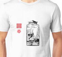 Ship at sea, Vase, Schiff in Landschaft, Sea, China, Ornamente Unisex T-Shirt