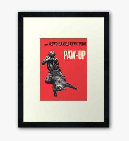 PAW-UP Framed Print