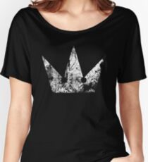 Kingdom Hearts Crown grunge Women's Relaxed Fit T-Shirt