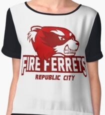 Republic City Fire Ferrets Women's Chiffon Top