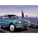 Poster artwork - Citroen AMi 6 by RJWautographics