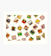 Generic Wooden Toys Representing Objects and Animals Art Print