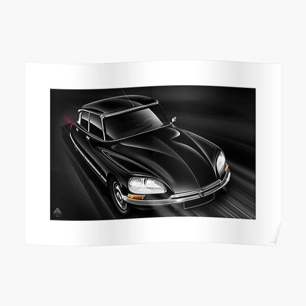 Illustrations d'affiches - Citroen DS 23EFI Pallas Poster