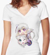 Re: Zero - Puck & Emilia Women's Fitted V-Neck T-Shirt
