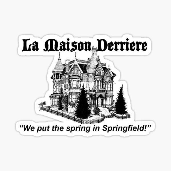La Maison Derriere – Bart After Dark, Simpsons Sticker