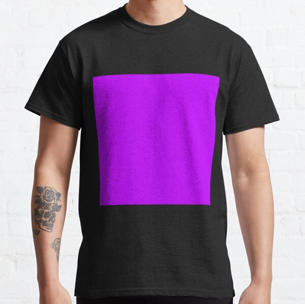 Electric purple color || Plain purple color shade by ADDUP. Classic T-Shirt