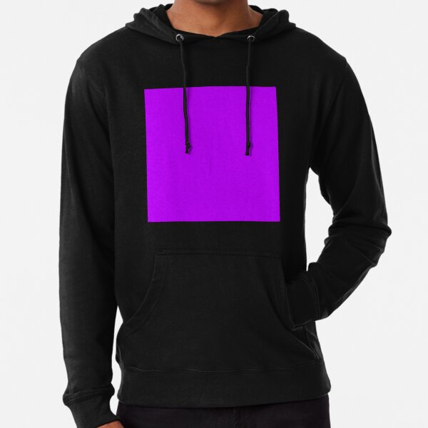 Electric purple color || Plain purple color shade by ADDUP. Lightweight Hoodie
