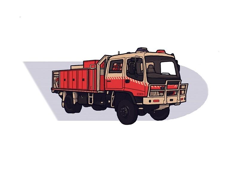 u0026quot nsw rural fire service cat1 firetruck u0026quot  by edcentrick