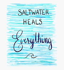 Saltwater Heals Everything Wave Symbol Photographic Print