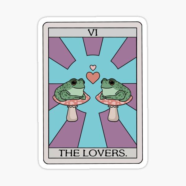 The Lovers Frog Tarot Sticker