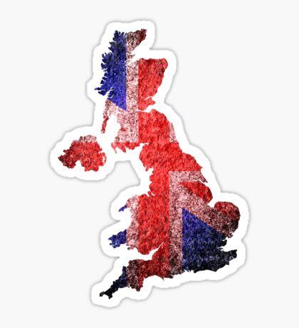 UK Flag Map Sticker