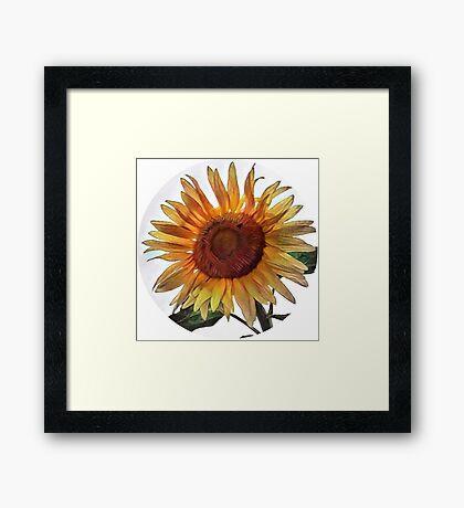 Sunflower circle Framed Print