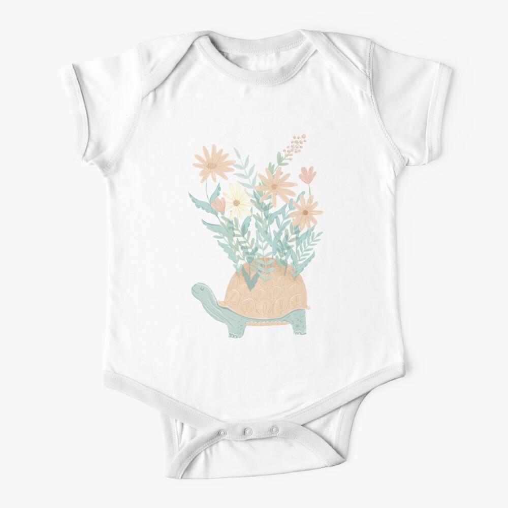 Botanical Turtle Baby One-Piece