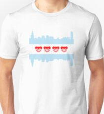 Chicago Flag Cubs Skyline T-Shirt