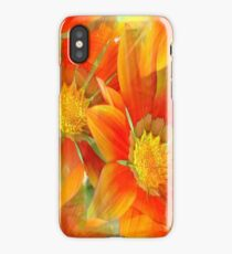 Seamless Vibrant Yellow Gazania Flower iPhone Case/Skin