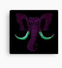 Blacklight Mammoth Canvas Print