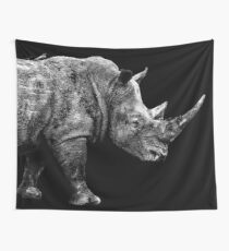 SAFARI PROFILE - RHINO BLACK EDITION Wall Tapestry