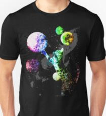 Space Cat mit Planeten Unisex T-Shirt