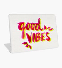 Good Vibes – Pink & Yellow Laptop Skin
