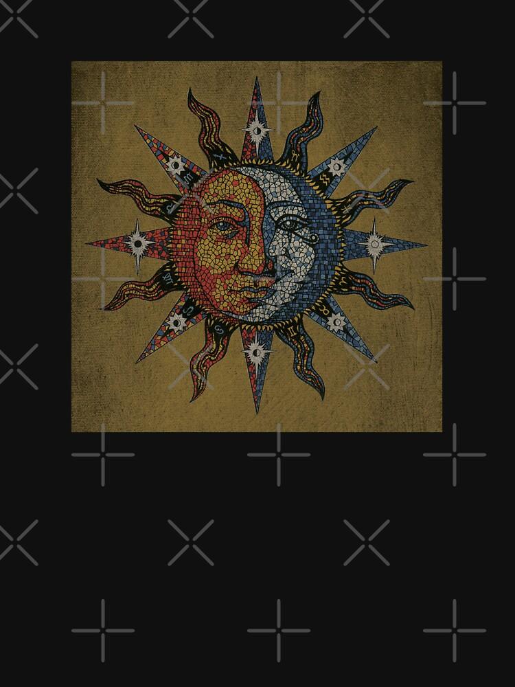 Vintage Celestial mosaic Sun & Moon de sandersart