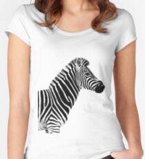 SAFARI PROFILE - ZEBRA WHITE EDITION Women's Fitted Scoop T-Shirt