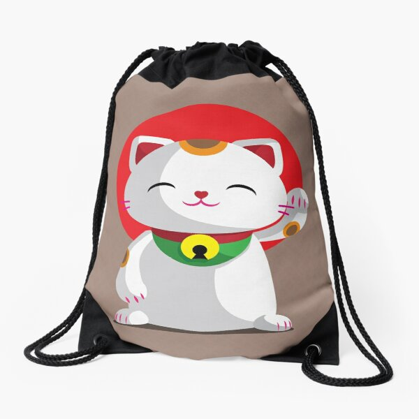 Maneki Neko	 Drawstring Bag