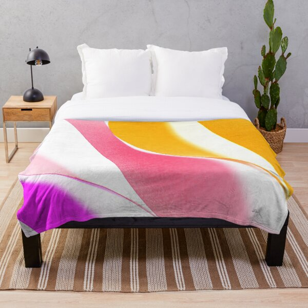 Waves of color Throw Blanket