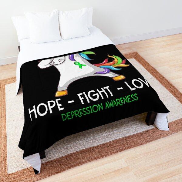 Hope Fight Love Depression Awareness Comforter