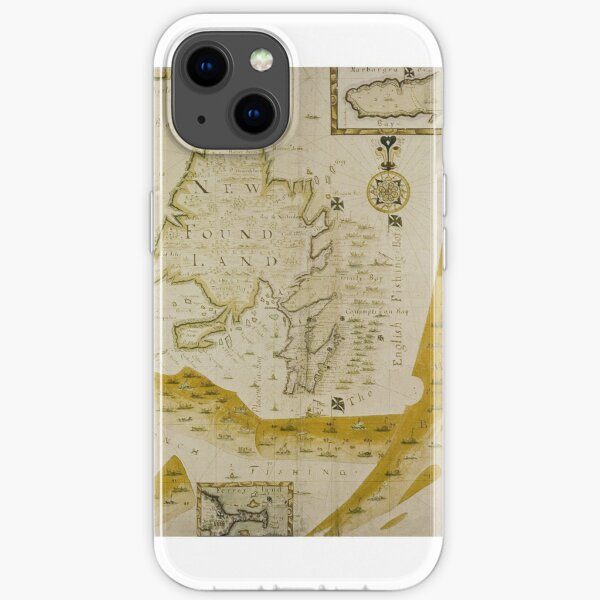 Map Of Newfoundland 1694 iPhone Soft Case