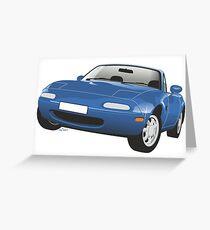 Mazda MX-5 Miata blue Greeting Card