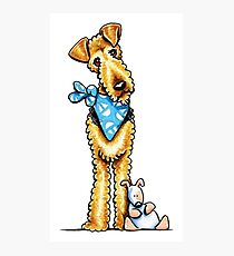 Airedale Terrier & Puppy Photographic Print