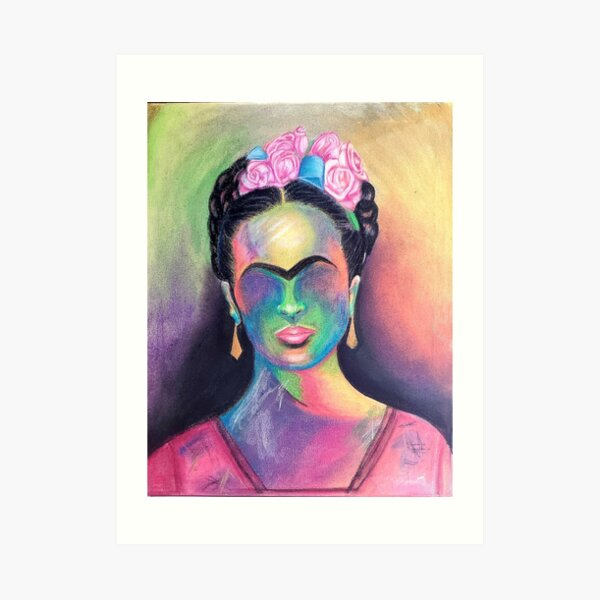 For the Love of Frida in Abstract Art Print