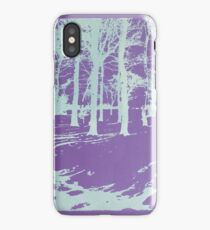 Inverted trees iPhone Case