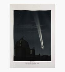 The Great Comet of 1881, vintage illustration Photographic Print