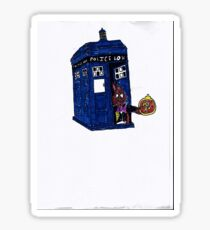 time lord bunny Sticker