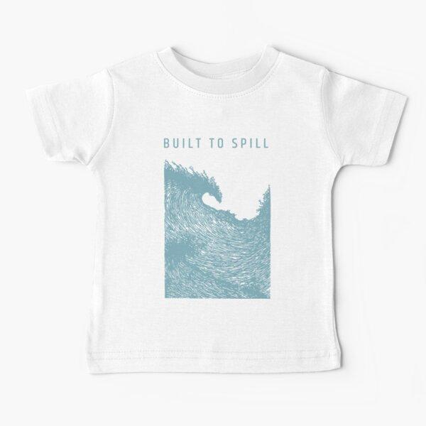 Built to Spill - amazing grunge era / alternative rock band.  'Tidal Wave' graphic. Blue grey print. Baby T-Shirt