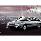 Poster artwork - Citroen CX GTI by RJWautographics