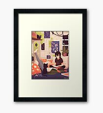 Midnight Theories Framed Print