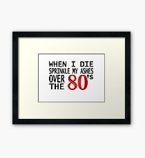 Van Halen Rock And Roll Music Quotes David Roth 80s Framed Print