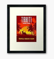 TAHITI Tropical Paradise Island Framed Print