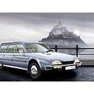 Poster artwork - Citroen CX Familiale by RJWautographics